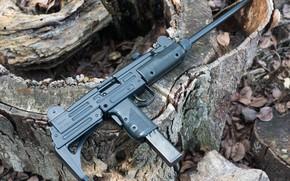 Picture 9mm, gun machine gun, Model A, UZI