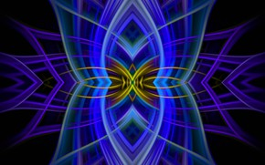Picture symmetry, abstract, fantasy