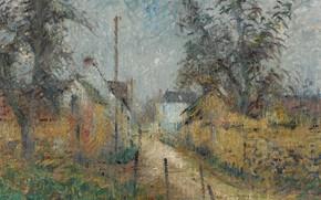 Picture landscape, picture, Gustave Loiseau, Gustave Loiseau, Farm in Normandy