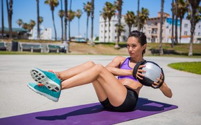 Wallpaper sun, ball, workout, fitness