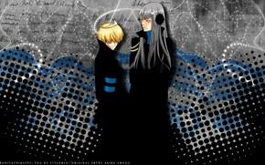 Picture background, anime, guys, Katekyo Hitman REBORN!, Belphegor, Superbi Squalo