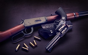 Wallpaper cartridges, the gun, revolver