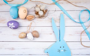 Picture eggs, Easter, wood, spring, Easter, eggs, bunny, decoration, Happy, tender