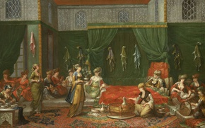 Picture oil, interior, picture, canvas, Jean-baht van Moore could, Room Famous Turkish Women Have Recently Become …