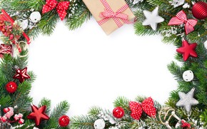 Picture decoration, tree, New Year, Christmas, happy, Christmas, New Year, Merry Christmas, Xmas, gift, decoration, frame, …