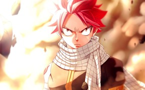 Picture anime, art, Fairy Tail, Natsu Dragneel, Fairy tail