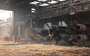 Wallpaper aircraft, construction, Milos Belanec, Old Hangar, structure, final render copy