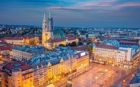 Picture home, panorama, Croatia, Zagreb