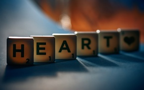 Picture heart, the word, Heart