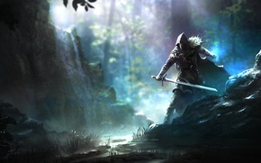 Wallpaper ken, sword, balde, cape, artwork, Elex, man, game, hood, warrior