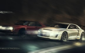 Picture Concept, Audi, Auto, Figure, Machine, Speed, Car, Car, Art, Art, Quattro, Rendering, Yasid Design, Audi …