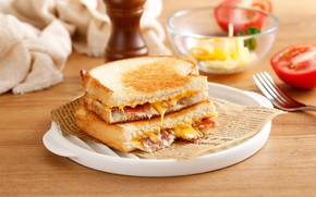 Picture Breakfast, cheese, sandwich, snack