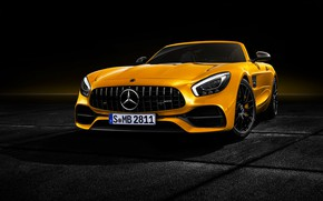 Picture Roadster, Mercedes-Benz, front view, AMG, 2018, GT S