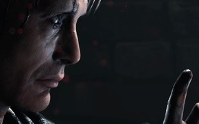 Picture game, soldier, actor, military, war, face, hand, head, strong, PlayStation, seifuku, finger, Mads Mikkelsen, PS4, ...