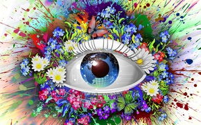 Picture colors, magic, eyes