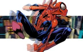 Picture The city, Costume, Building, City, Hero, Mask, Superhero, Hero, Marvel, Spider-man, Comics, Spider-Man, Peter Parker, ...