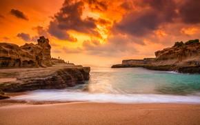 Picture beach, stones, coast