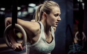 Wallpaper gym, workout, blonde, fitness
