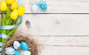 Wallpaper Easter, tulips, tulips, Easter, eggs, spring, flowers