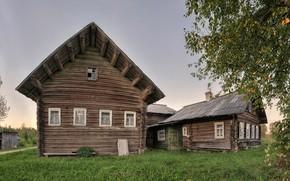 Picture village, Russian North, Arkhangelsk oblast, Cinder, Kargopol district