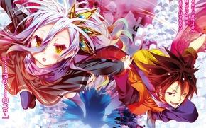 Picture anime, art, two, No Game No Life, No game no life