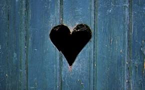 Picture heart, Board, the door