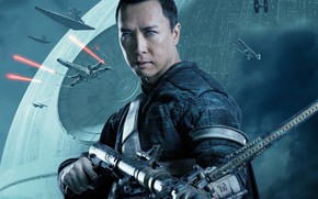Wallpaper weapons, poster, spaceships, Rogue One, lasers, planet, Donnie Yen, Donnie Yen, Rogue-one: Star wars. History, ...