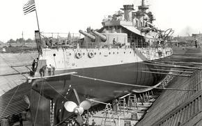 Picture retro, ship, USA, stapel