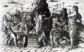 Picture 1475, Andrea Mantegna, Burin, Tomb in Width, The Implementation of the