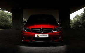 Picture Red, AMG, Mercedes - Benz, C63, Mulgari