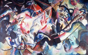 Picture picture, Wassily Kandinsky, Composition VI, abstract