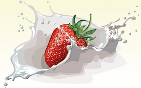 Picture vector, strawberry, berry