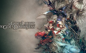 Picture game, Final Fantasy, armor, weapon, anime, MMORPG, gir, Final Fantasy XIV, japonese