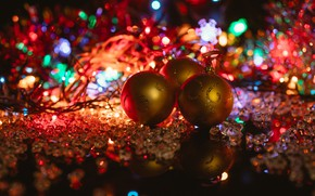 Picture holiday, balls, toys, new year, decoration