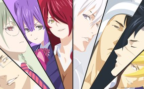 Picture collage, anime, characters, Shokugeki No Soma