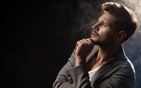 Wallpaper look, male, guy, face, profile, model