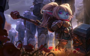 Wallpaper League of Legends, Riot Games, Joshua Brian Smith, fantasy, art, Poppy, the game, Keeper of ...