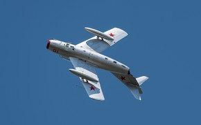 Picture The MiG-15, Soviet fighter, OKB Mikoyan