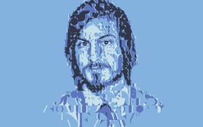 Picture face, collage, Apple, vector, Steve Jobs, Steve Jobs