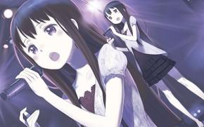 Picture girl, singing, Sword art online, Sword Art Online, Sword Art Online Alternative: Gun Gale Online