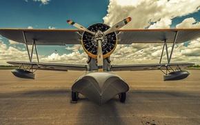 Picture seaplane, 1936, The Grumman J2F Duck, a single-engine biplane amphibian