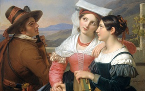 Picture oil, picture, canvas, genre, Feeling, Cornelis Kruseman