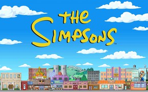 Picture The simpsons, Figure, The city, Simpsons, Art, Cartoon, The Simpsons, 20th Century Fox, Character, Springfield, ...