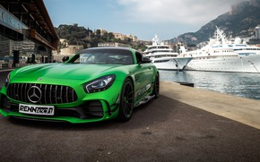 Picture Mercedes-Benz, front view, AMG, harbour, 2018, RennTech, GT R