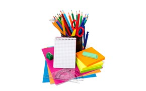 Picture paper, pencils, white background, Notepad, notebook, scissors, the compass, sharpener, kontselyariya, line