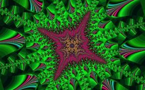 Picture Green, Bright, Raspberry