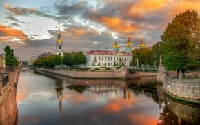 Picture autumn, Saint Petersburg, Kryukov canal
