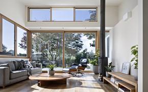 Picture Villa, interior, fireplace, living room, Croydon House