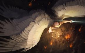 Picture wings, angel, art, Alexander Khitrov, GaudiBuendia