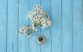 Picture flowers, bouquet, thread, wildflowers